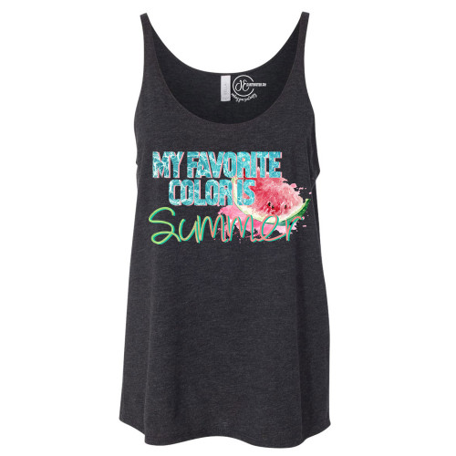 My Favorite Color is Summer Slouchy Tank