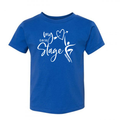 My Heart is on the Stage MDA Strong Toddler T-Shirt