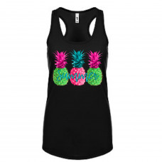 Neon Summer Pineapple Tank Top
