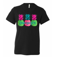 Neon Summer Pineapple Youth T-Shirt