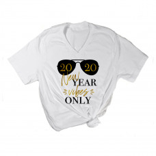 New Year Vibes Only V-Neck