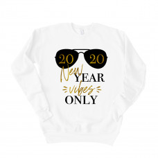 New Year Vibes Only Drop Sleeve Sweatshirt