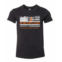 No One Fights Alone - Leukemia Youth T-Shirt
