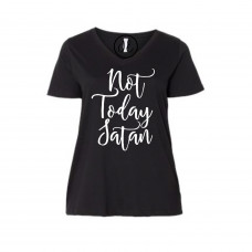 Not Today Satan Curvy Collection V-Neck