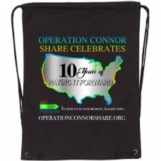 Operation Connor Share 10 Years Canvas Drawstring Backpack