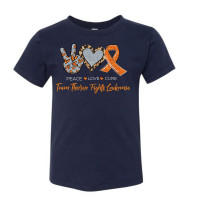 Peace Love Cure - Leukemia Youth T-Shirt