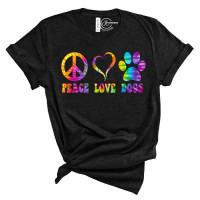 Peace Love Dogs Crew Neck T-Shirt