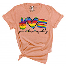 Peace Love Equality Crew Neck T-Shirt