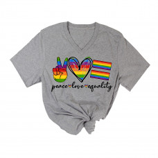 Peace Love Equality V-Neck T-Shirt