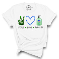 Peace Love Sanitize T-Shirt