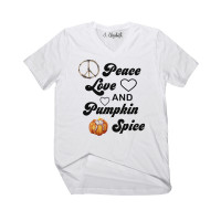 Peace Love and Pumpkin Spice V-Neck