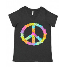 Peaceful Peeps Curvy Collection V-Neck