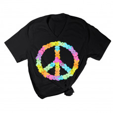 Peaceful Peeps V-Neck T-Shirt
