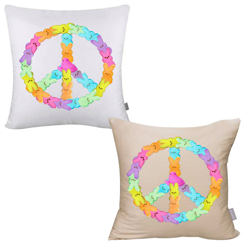 Peaceful Peeps Pillow Cover