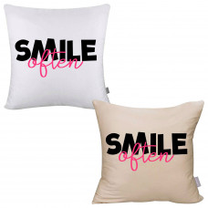 Smile Often Pillow Cover