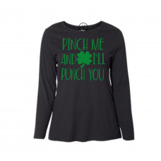 Pinch Me and I'll Punch Curvy Collection Long Sleeve