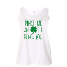 Pinch Me and I'll Punch You Women's Curvy Collection Tank