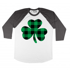 Plaid Clover Raglan