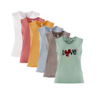 Plaid Love Festival Muscle Tank