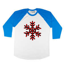 Plaid Snowflake Raglan