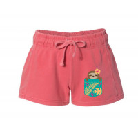 Pocket Sloth Printed French Terry Shorts