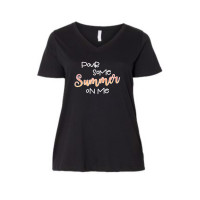 Pour Some Summer On Me Curvy Collection V-Neck