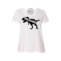 Pregosaurus Curvy Collection V-Neck