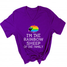Rainbow Sheep Of the Family V-Neck
