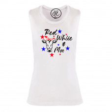 Red White and Moo Festival Muscle Tank