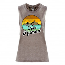 Retro Be a Nice Human Festival Muscle Tank