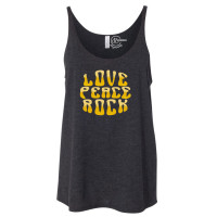 Love Peace Rock Slouchy Tank