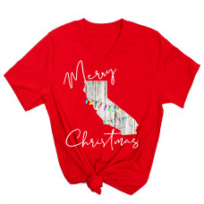 Rustic Christmas States V-Neck (ALL STATES!)
