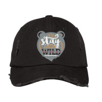 Stay Wild Distressed Embroidered Hat