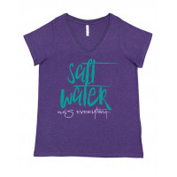 Salt Water Heals Everything Curvy Collection V-Neck