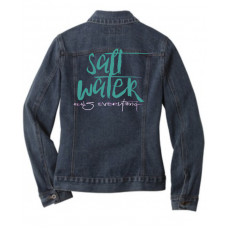 ~SALE~ Salt Water Heals Everything Jean Jacket - SMALL