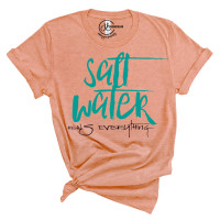 Salt Water Heals Everything Crew Neck T-Shirt
