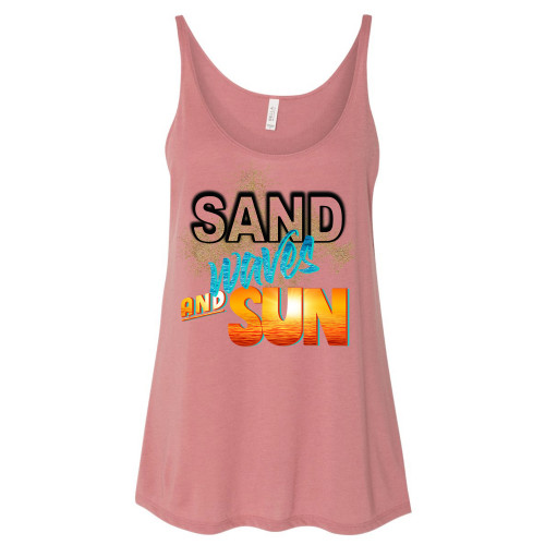 Sand Waves and Sun Slouchy Tank