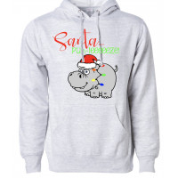 Santa Please Fleece Hoodie