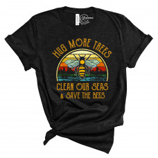 Save the Bees Crew Neck T-Shirt