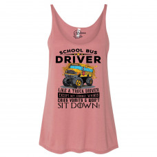 School Bus Driver Slouchy Tank