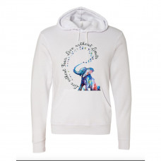 Semi Colon Elephant Fleece Hoodie