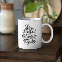 She Is Clothed In Strength and Dignity 15oz White Ceramic Mug