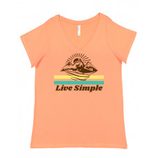 Live Simple Curvy Collection V-Neck