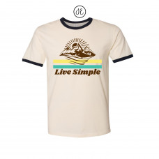 Live Simple Jersey Ringer Tee