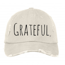 Simply Grateful Distressed Hat