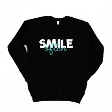 Smile Often Unisex Drop Sleeve Sweatshirt