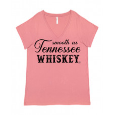 Smooth as Tennessee Whiskey Curvy Collection V-Neck