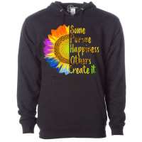 Some Pursue Happiness Others Create It Fleece Hoodie