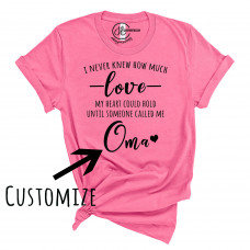 Someone Loves Me Customizable Crew Neck T-Shirt
