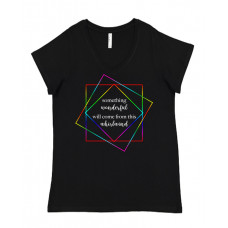 Something Wonderful Will Come From This Curvy V-Neck - Parental Hope